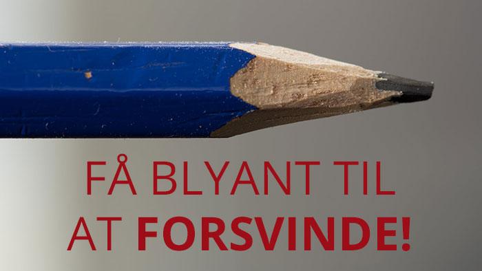 Få en blyant til at forsvinde!
