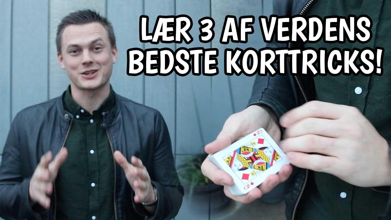 NYHED: Lær 3 af verdens bedste korttricks!